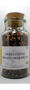 Früchtetee Mango Marakuja im Korkenglas